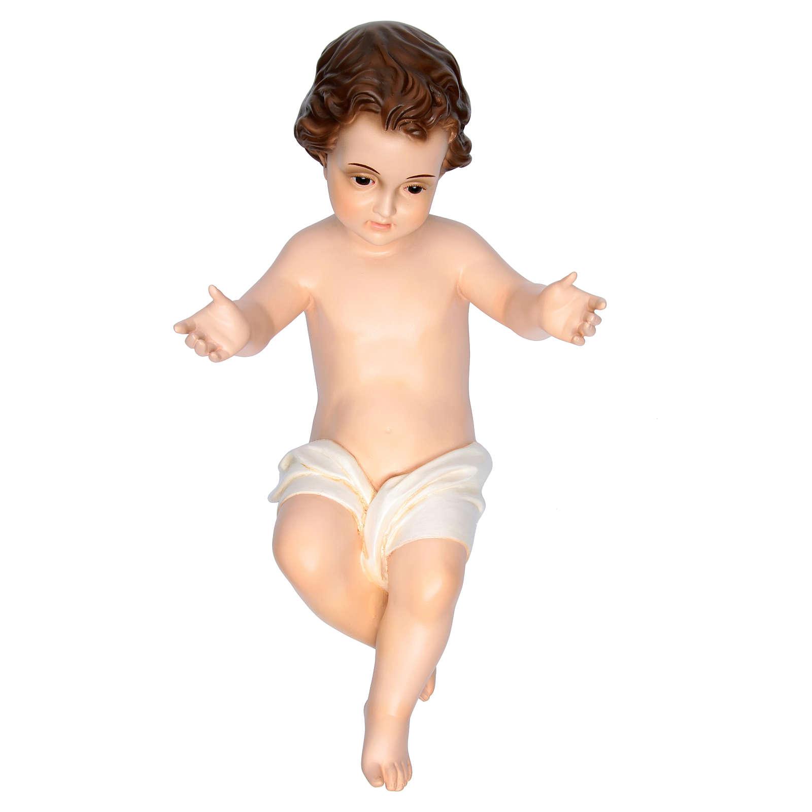 Niño jesús con ojos de cristal de 58cm Landi 3