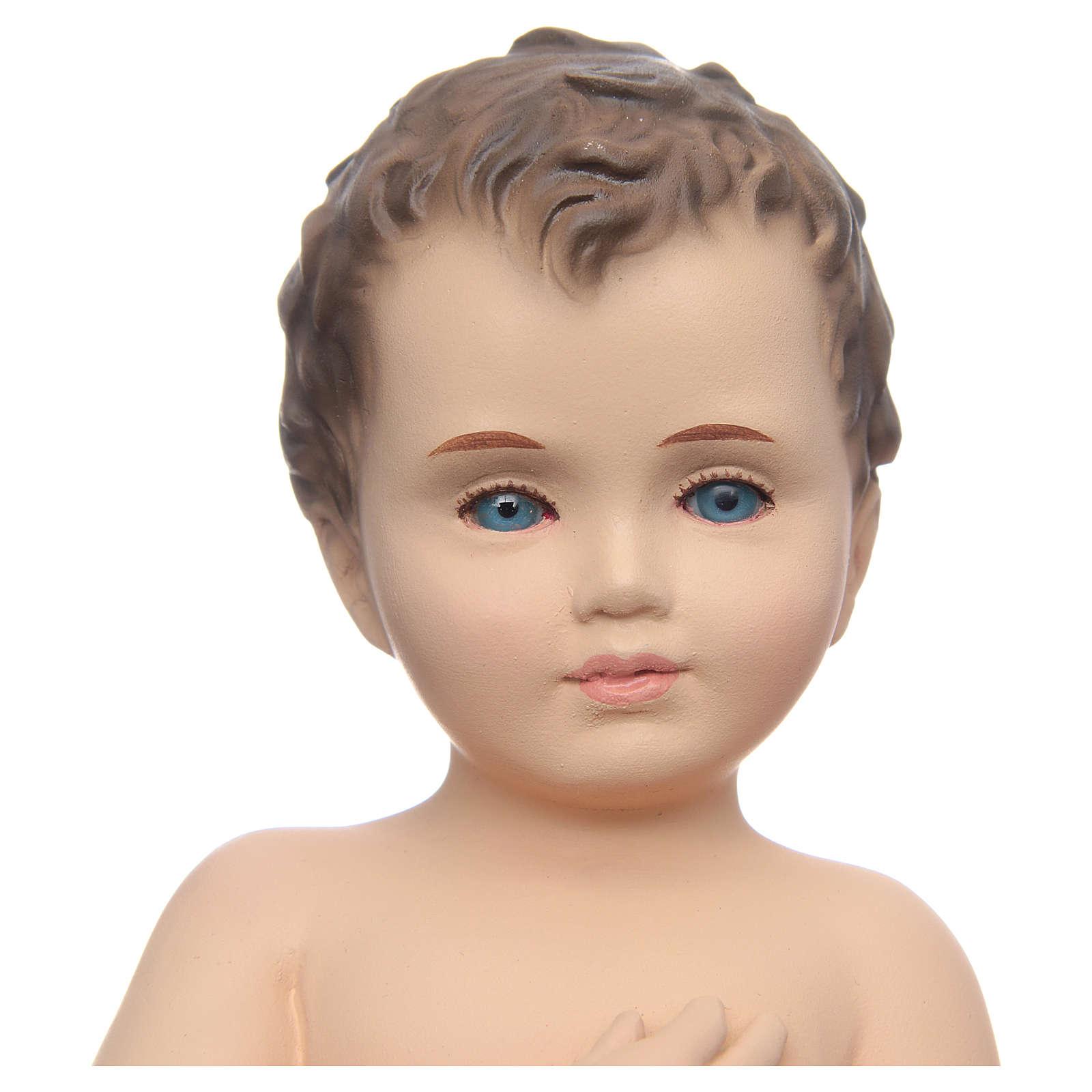 Baby Jesus, naked with crystal eyes, 24cm Landi 3