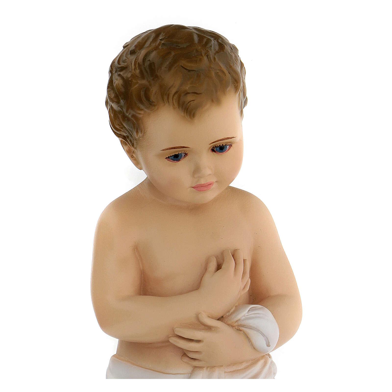 Blue eyed Baby Jesus statue, 24 cm Landi 3