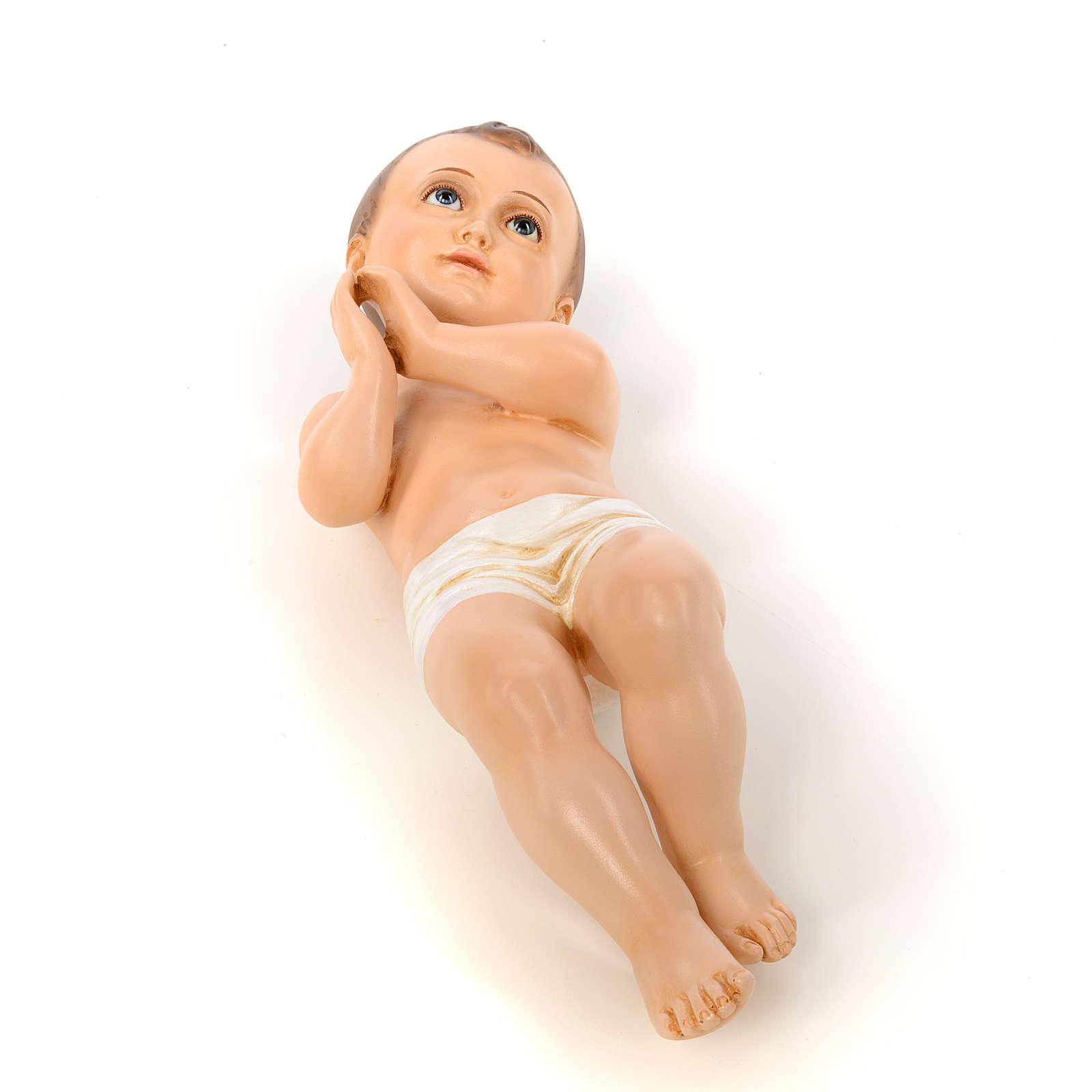 Bambino di Betlemme cm 50 occhi cristallo Landi PER ESTERNO 3