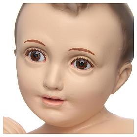 Bambino di Betlemme cm 50 occhi cristallo Landi PER ESTERNO s2