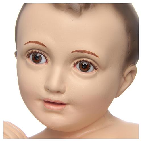 Bambino di Betlemme cm 50 occhi cristallo Landi PER ESTERNO 10