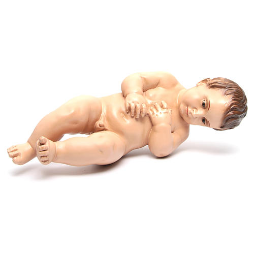 Baby Jesus baroque style with crystal eyes, 50cm Landi 12