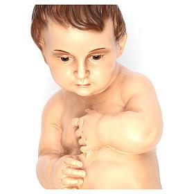 Bambino barocco cm 50 Landi occhi cristallo 800 Napoletano s11