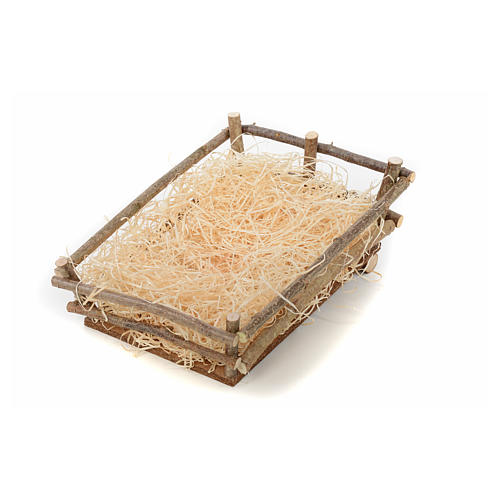 Cradle in wood and straw 27-30 cm Landi 1