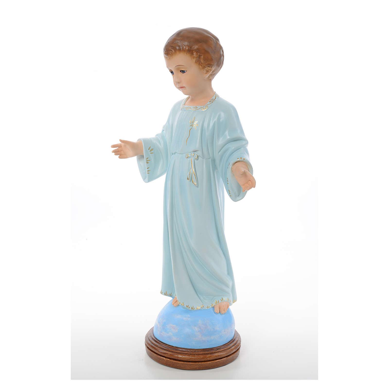 Baby Jesus standing, Holy Childhood, crystal eyes 55cm Landi 3