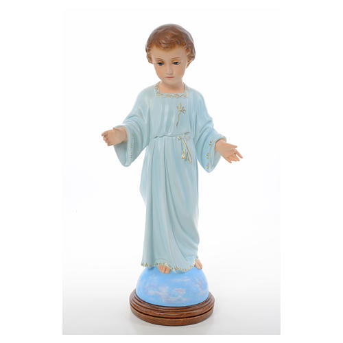 Baby Jesus standing, Holy Childhood, crystal eyes 55cm Landi 1