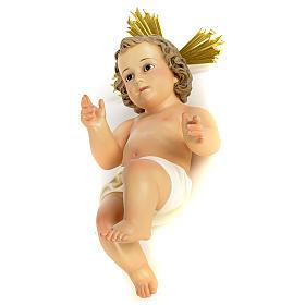 Estatuas del Niño Jesús: Niño Jesús con aureola 40cm pasta de madera dec. f