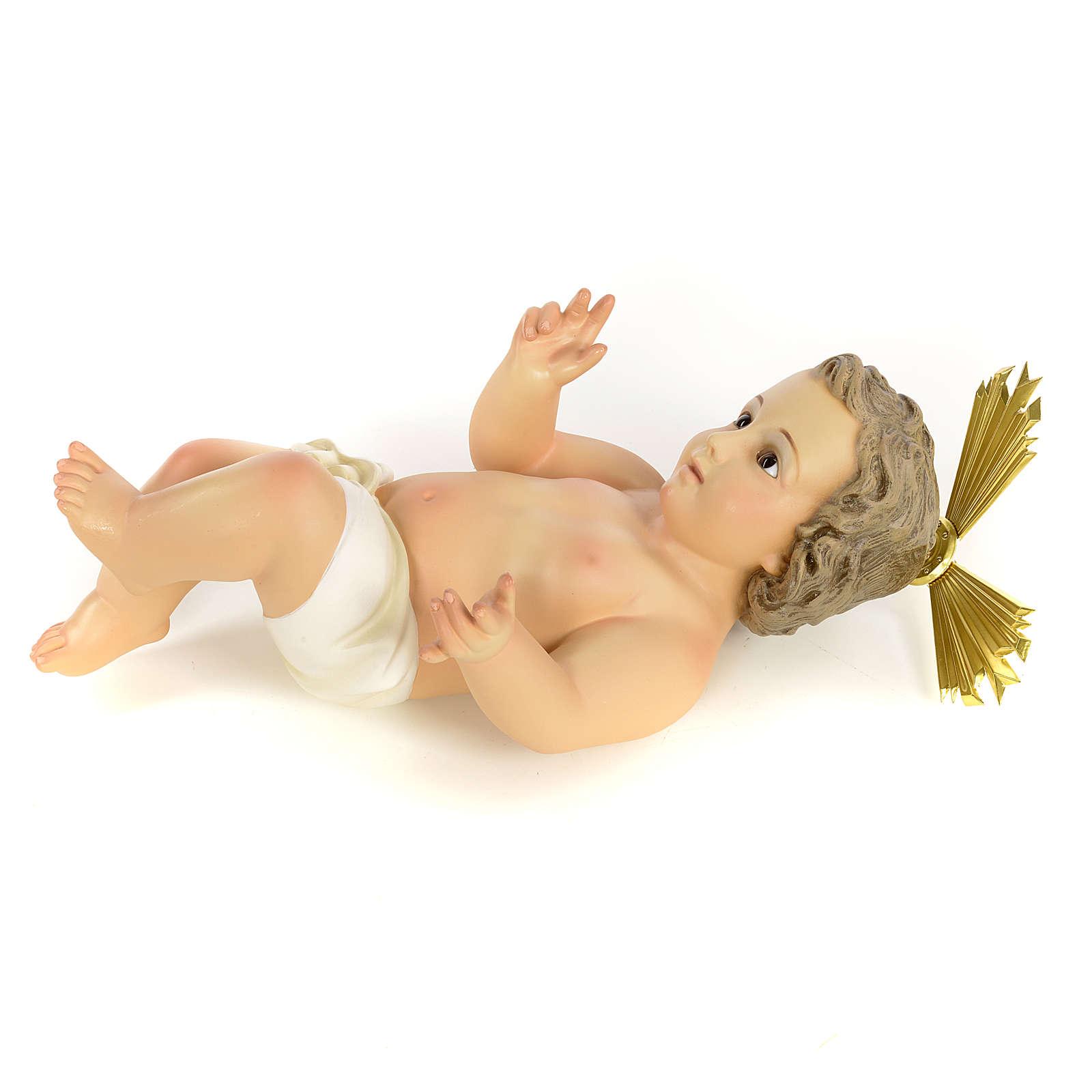 Gesù Bambino 40 cm in pasta di legno dec. fine 3