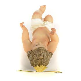 Gesù Bambino 40 cm in pasta di legno dec. fine s7