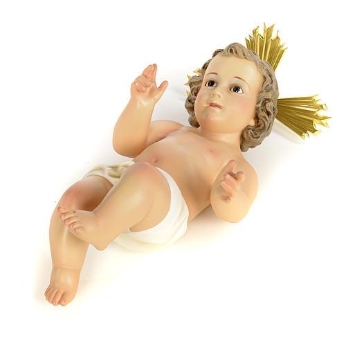 Gesù Bambino 40 cm in pasta di legno dec. fine 5