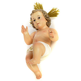 Baby Jesus figurines: Baby Jesus in wood pulp, 40cm (fine decor.)