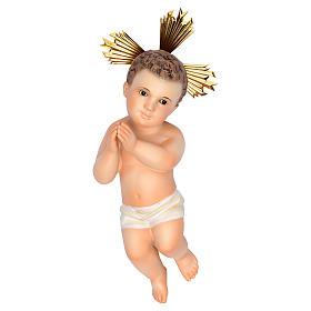 Gesù Bambino 20 cm in pasta di legno dec. fine s1
