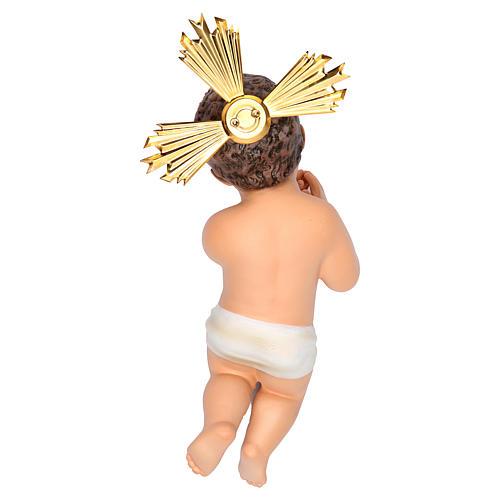 Gesù Bambino 20 cm in pasta di legno dec. fine 2