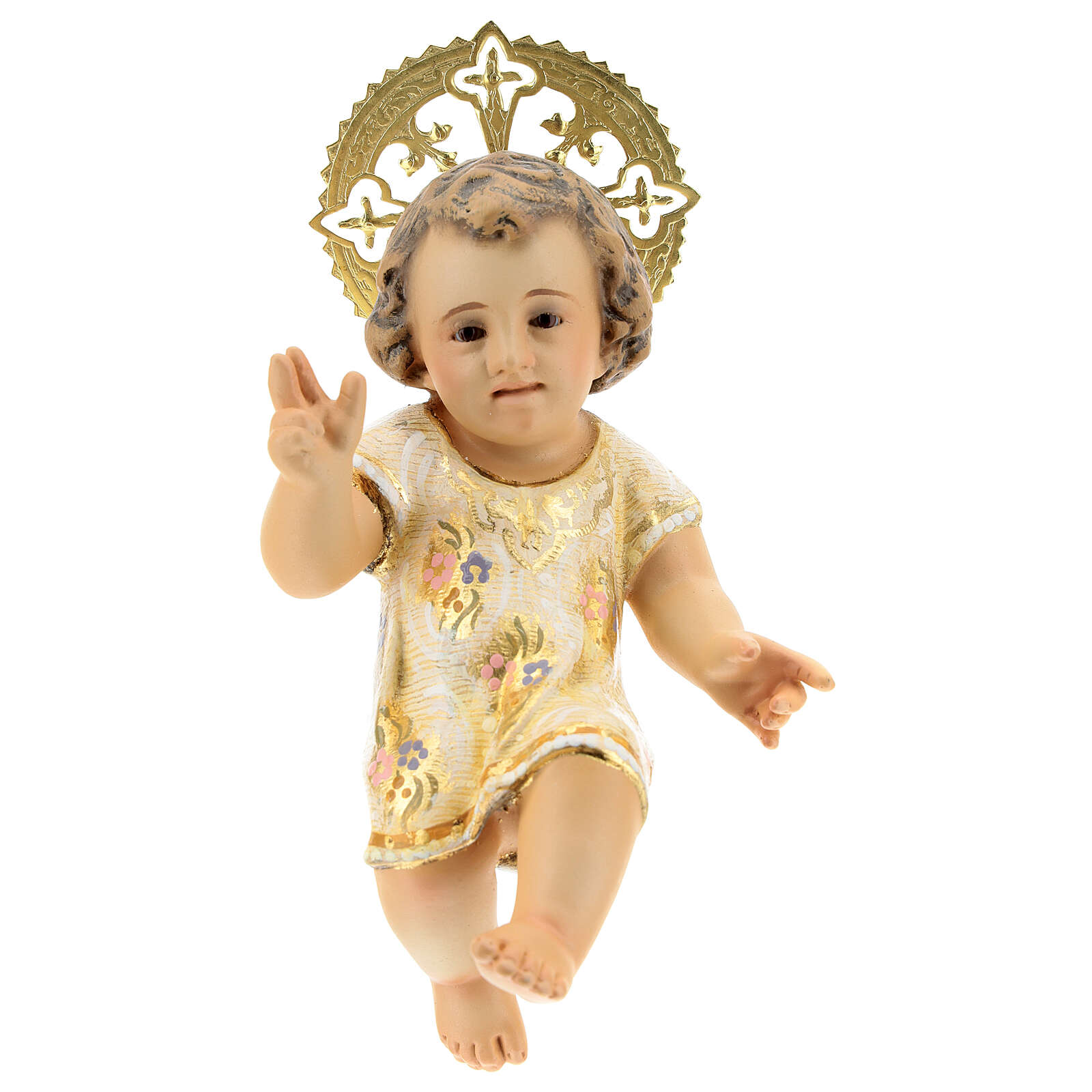 Gesù Bambino 15 cm in pasta di legno dec. extra 3