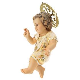 Gesù Bambino 15 cm in pasta di legno dec. extra s3