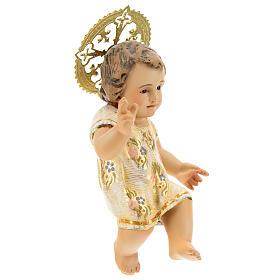 Gesù Bambino 15 cm in pasta di legno dec. extra s4