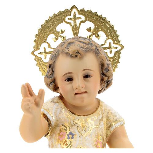 Gesù Bambino 15 cm in pasta di legno dec. extra 2