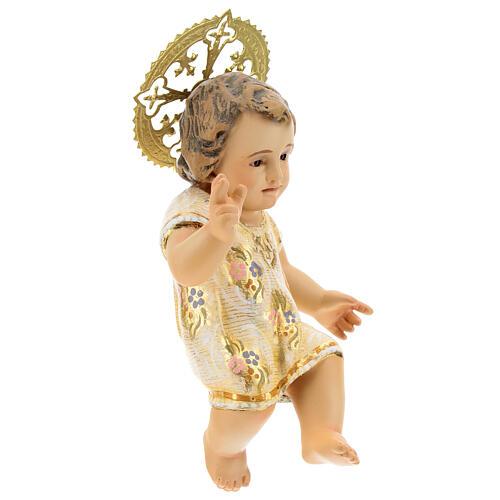 Gesù Bambino 15 cm in pasta di legno dec. extra 4