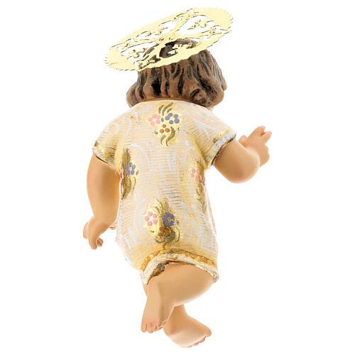 Gesù Bambino 15 cm in pasta di legno dec. extra 5