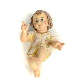 Dzieciątko Jezus 15 cm z miazgi drzewnej dekoracje extra s1