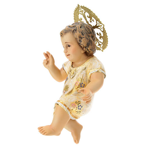 Menino Jesus 15 cm em pasta de madeira acab. extra 3
