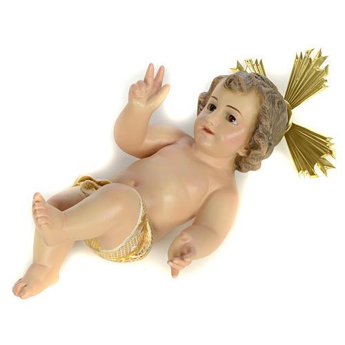 Enfant Jésus 20cm pâte à bois extra 3