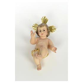 Gesù Bambino 20 cm in pasta di legno dec. extra s2