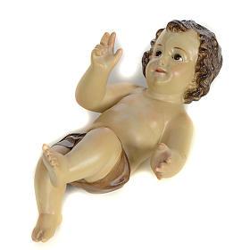 Menino Jesus 25 cm em pasta de madeira acab. brunido s4