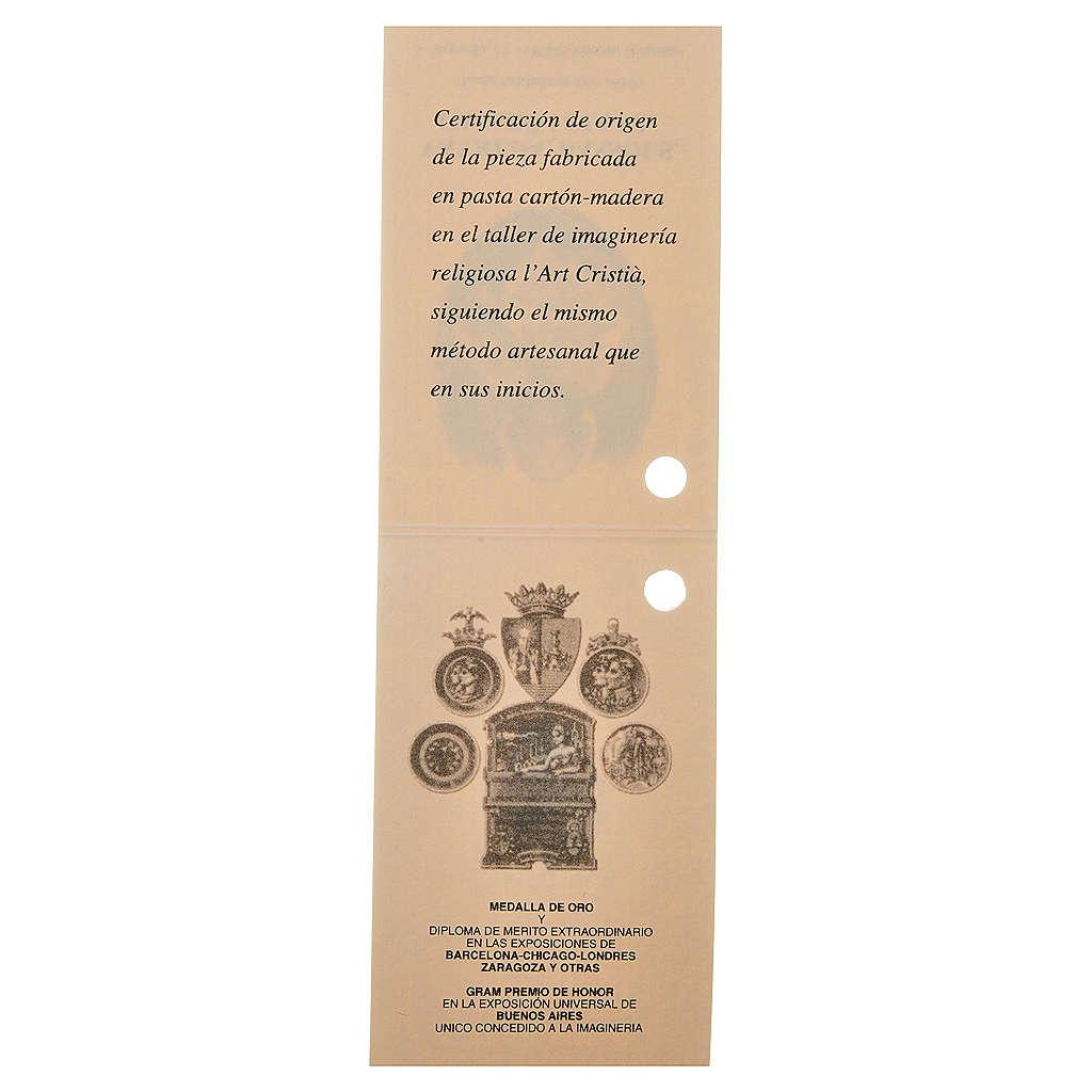 Gesù Bambino 35 cm in pasta di legno dec. fine 3