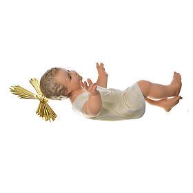 Gesù Bambino 35 cm in pasta di legno dec. fine s5