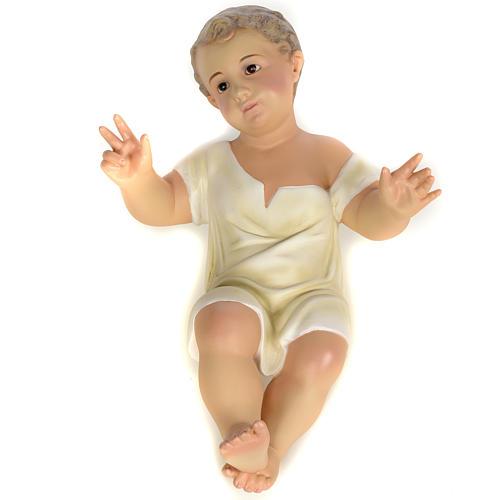 Gesù Bambino 35 cm in pasta di legno dec. fine 7