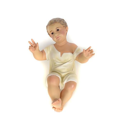 Gesù Bambino 35 cm in pasta di legno dec. fine 8