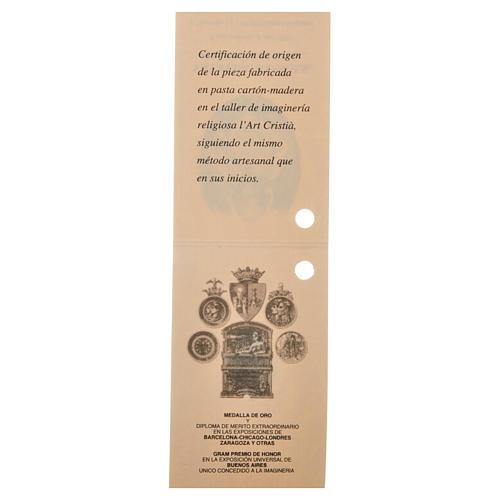Gesù Bambino 35 cm in pasta di legno dec. fine 18