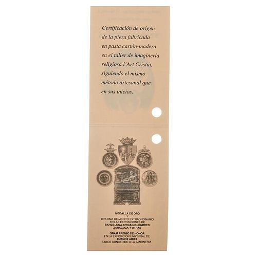 Gesù Bambino 35 cm in pasta di legno dec. fine 6