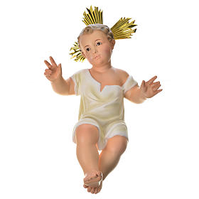 Baby Jesus figurines: Baby Jesus statue in wood pulp, 35cm (fine decor.)