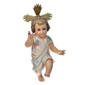 Gesù Bambino benedicente 35 cm pasta di legno dec. Speciale s1