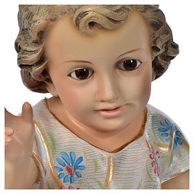 Gesù Bambino benedicente 35 cm pasta di legno dec. Speciale s2