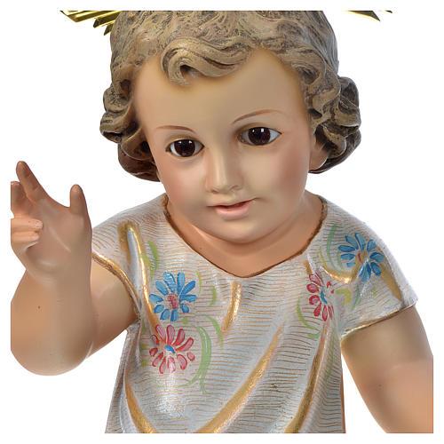 Gesù Bambino benedicente 35 cm pasta di legno dec. Speciale 3