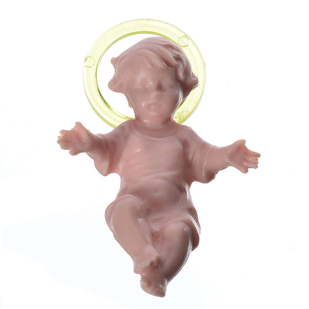 Baby Jesus 4cm in plastic with aureola 3