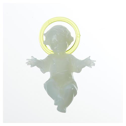 Bambin Gesù fosforescente 5 cm plastica 4