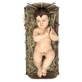 Bambinello 35 cm (misura reale) preghiera terracotta occhi vetro s1