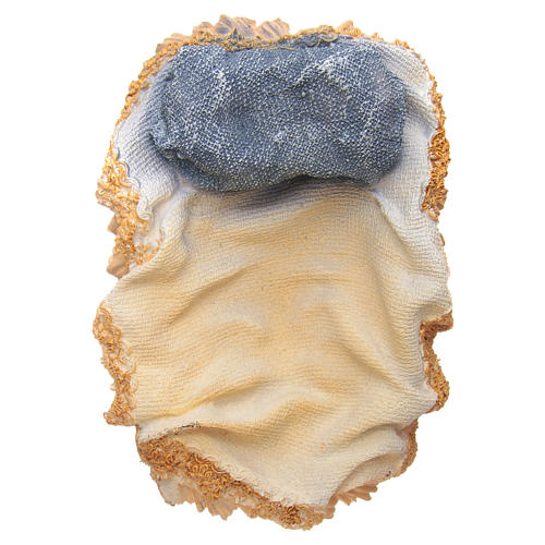 Gesù Bambino in culla resina h 17,5 cm 5