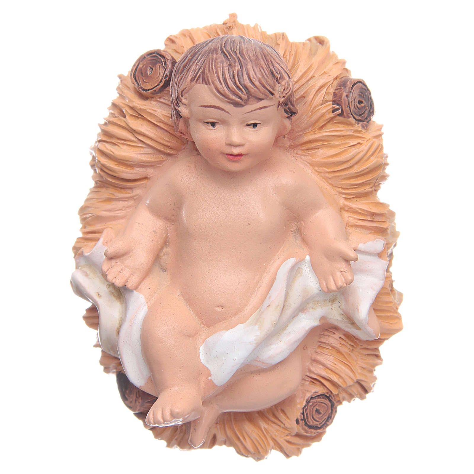 Baby Jesus in cradle, resin 2,5cm  3