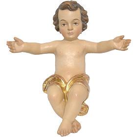 Niño Jesús Madera Val Gardena acabado Antiguo Oro s1