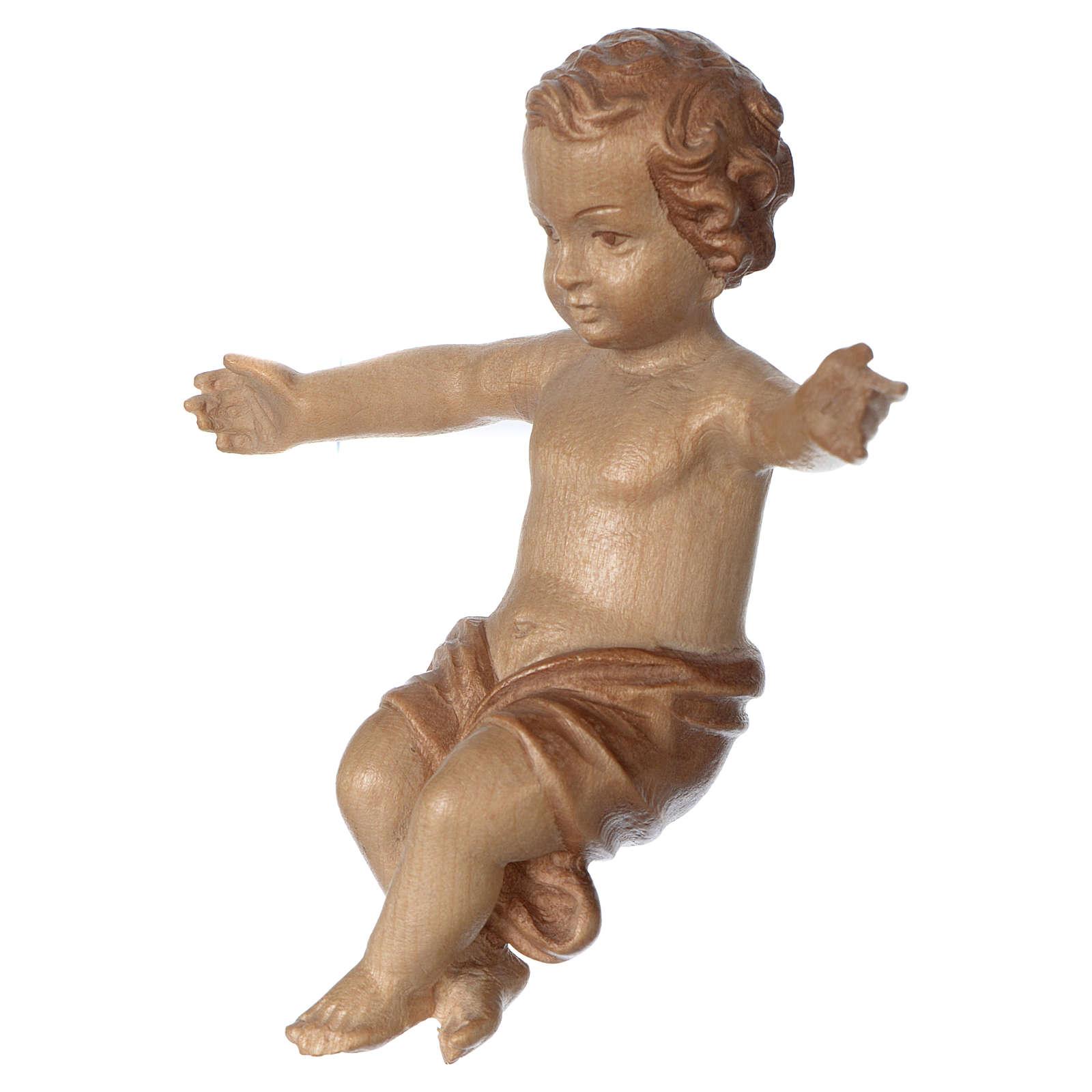 Gesù Bambino legno Valgardena fin. Multipatinata 3