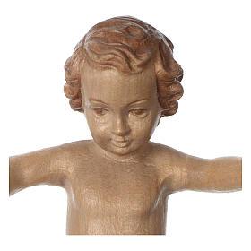 Gesù Bambino legno Valgardena fin. Multipatinata s2