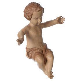 Gesù Bambino legno Valgardena fin. Multipatinata s4