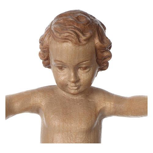 Gesù Bambino legno Valgardena fin. Multipatinata 2