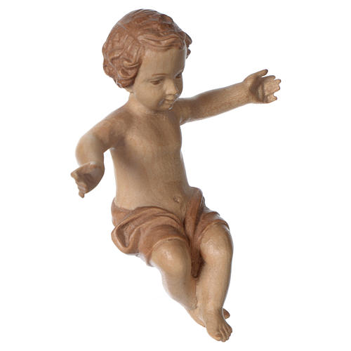 Gesù Bambino legno Valgardena fin. Multipatinata 4